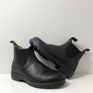 BLUNDSTONE BLACK LEATHER 587 CLASSIC CHELSEA BOOTS